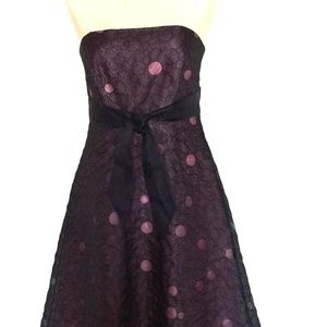 Laundry by Shelli Segal Black and Pink Lining Dres